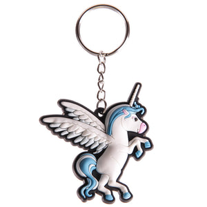 Funky PVC Unicorn Keyring - Available in Blue or Pink