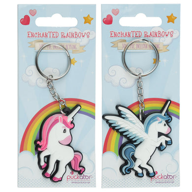 Funky PVC Unicorn Keyring - Available in Blue or Pink - Free Shipping