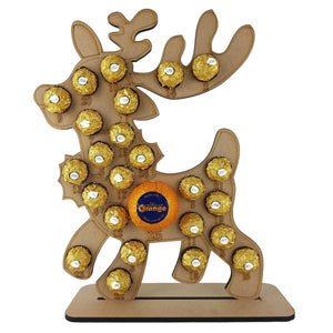 Reindeer Ferrero Rocher/Lindt Chocolate and Chocolate Orange Christmas Advent Calendar (Chocs not included)