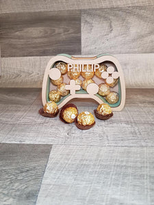 Customisable Wooden Game Controller (Chocolate) Holder - can be Personalised