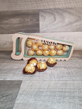 Customisable Wooden Saw (Chocolate) Holder - can be Personalised