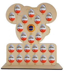 Santa Mouse Kinder Egg and Chocolate Orange Christmas Advent Calendar (Chocs not included)