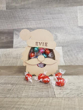Customisable Wooden Christmas Santa (Chocolate) Holder - can be Personalised