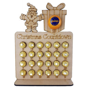 SantaFerrero Rocher/Lindt and Chocolate Orange Christmas Advent Calendar (chocs not inc.)