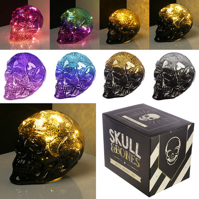 Large Two Toned LED Skull - Perfect for Halloween (various colours available)
