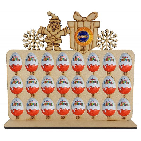 Santa Kinder Egg and Chocolate Orange Christmas Advent Calendar (chocs not inc.)