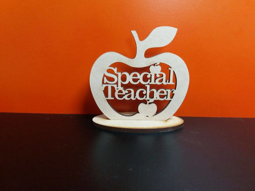 Wooden Special Teacher Apple With Stand