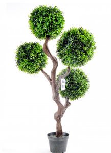 Artificial Boxwood Spherical Topiary Tree - 90cm