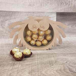 Customisable Wooden Spider (Chocolate) Holder (Halloween) - Can be Personalised