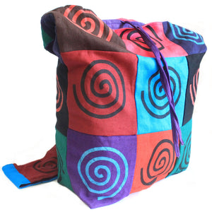 Cotton Patch Sling Bag - Four Designs Available (Peace, Om, Elephant, Spiral)