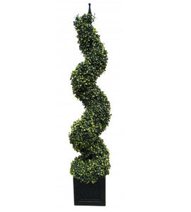 Artificial Boxwood Spiral Topiary Tower Tree - 80cm and 120cm sizes available