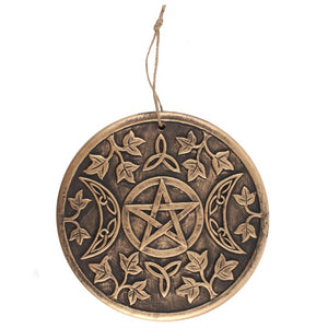 Triple Moon Garden Hanging Plaque