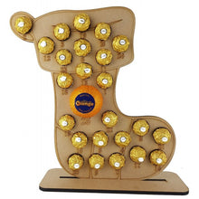 Christmas Stocking Ferrero Rocher/Lindt Chocolate and Chocolate Orange Christmas Advent Calendar (Chocs not included)