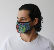 Colourful Swirls Reusable Face Mask inc. Filter (Large - Adult)
