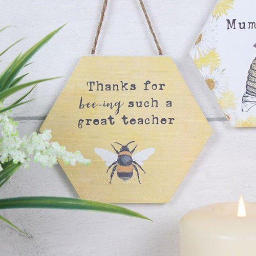 Thank You Teacher Bee Sign/Plaque