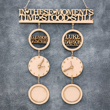 Personalised and Customisable 'In This/These Moment(s) Time Stood Still' Hanging Sign
