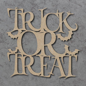 Customisable Wooden Halloween 'Trick or Treat' Hanging Sign