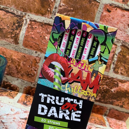 Truth or Dare Straws - Box of 20 Paper Straws