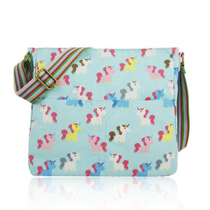 Unicorn Canvas Cross Body Bag - Various Colours Available