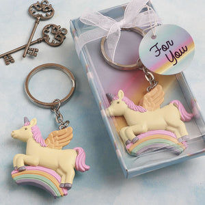 Delightful Unicorn and Rainbow Keyring
