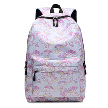 Unicorn, Rainbows and Shooting Stars Backpack - Light Blue