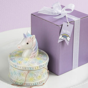 Pastel Rainbow Unicorn Trinket / Jewellery Box