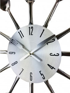 Kitchen Utensil Wall Clock 38cm