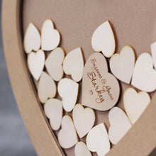 Personalised and Customisable Wooden Wedding Heart Drop Box