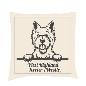 Personalised or Non-Personalised West Highland Terrier (Westie) Cushion