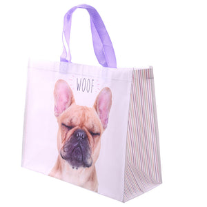 French Bulldog 'Woof' Durable Reuseable Shopping Bag