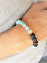 Amazonite, Clear Quartz & Vulkanska lava