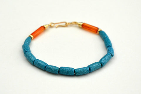 Plain Egyptian Paste Bracelet