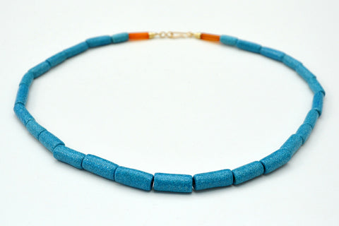 Graduated Cylindrical Egyptian Paste Necklace