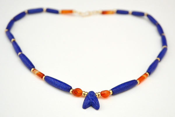 Cobalt Blue Single Fly Necklace