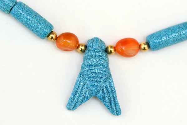 Triple Fly Pendant Necklace