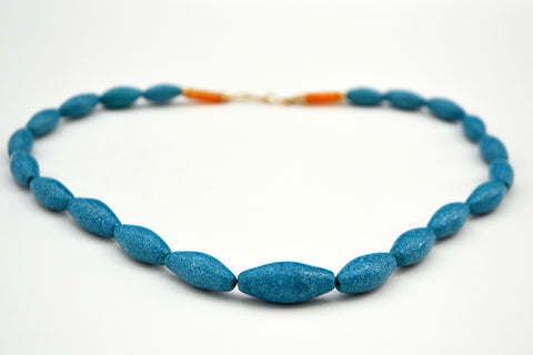Graduated Torpedo Bead Egyptian Paste Necklace