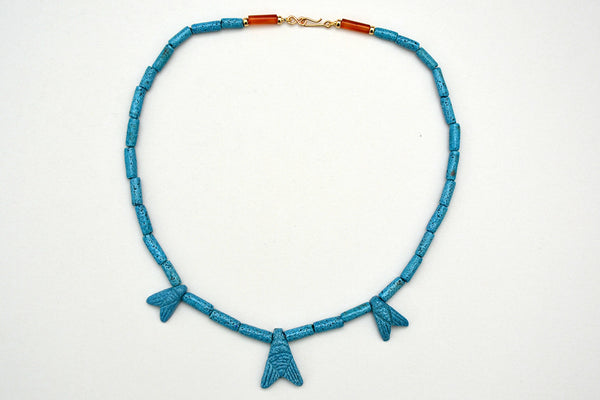 Triple Fly Egyptian Paste Necklace