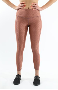 Roma Activewear Set - Leggings & Sports Bra - Copper [MADE IN ITALY]