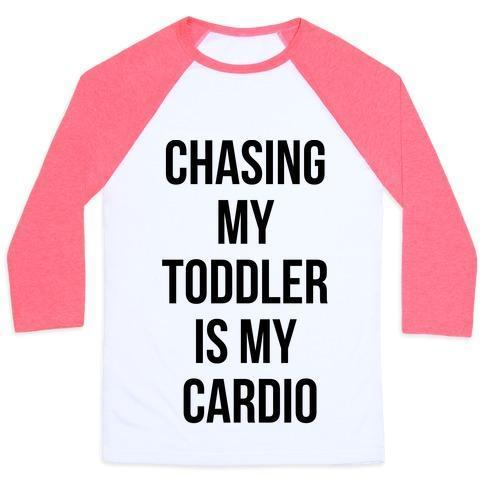 CHASING MY TODDLER IS MY CARDIO UNISEX CLASSIC BASEBALL TEE