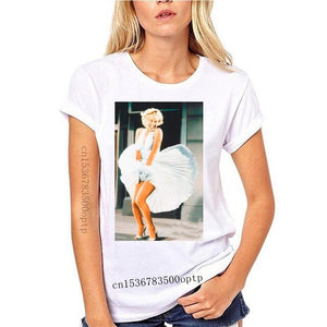 Marylin Monroe Mens T Shirt - Classic Windblown Skirt With Red Sneakers Mens Grey Cool Fashion
