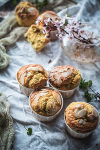 Asparagus and fava bean muffins