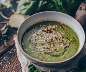 Spinach and broccoli soup - recipe for the Blood Type Diet
