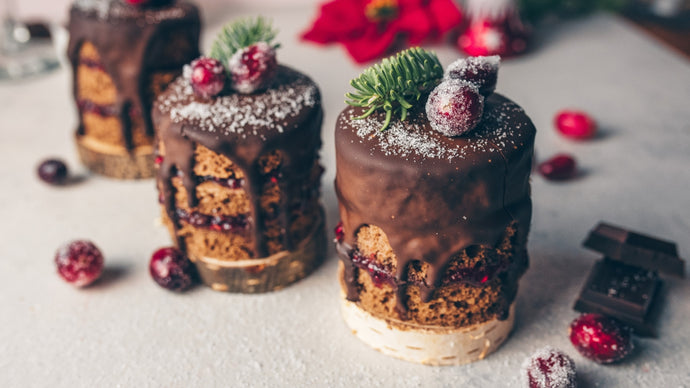 Mini Rum Chocolate and Raspberry cakes - Gluten & Dairy free
