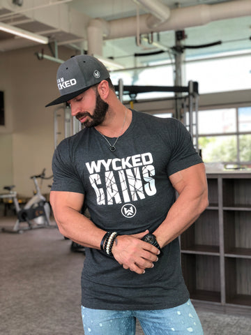 WYCKED GAINS - CHARCOAL GREY