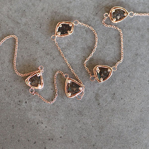 5 Diamond Slice Necklace