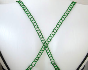 Green Adjustable Beaded Bra Straps DIY Kit