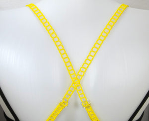 Yellow Adjustable Beaded Bra Straps DIY Kit