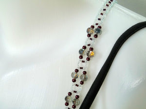 Swarovski Vitrail Medium Adjustable Beaded Bra Straps DIY Kit