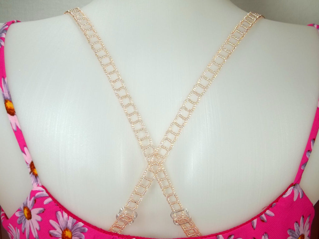 Pink Adjustable Beaded Bra Straps DIY Kit
