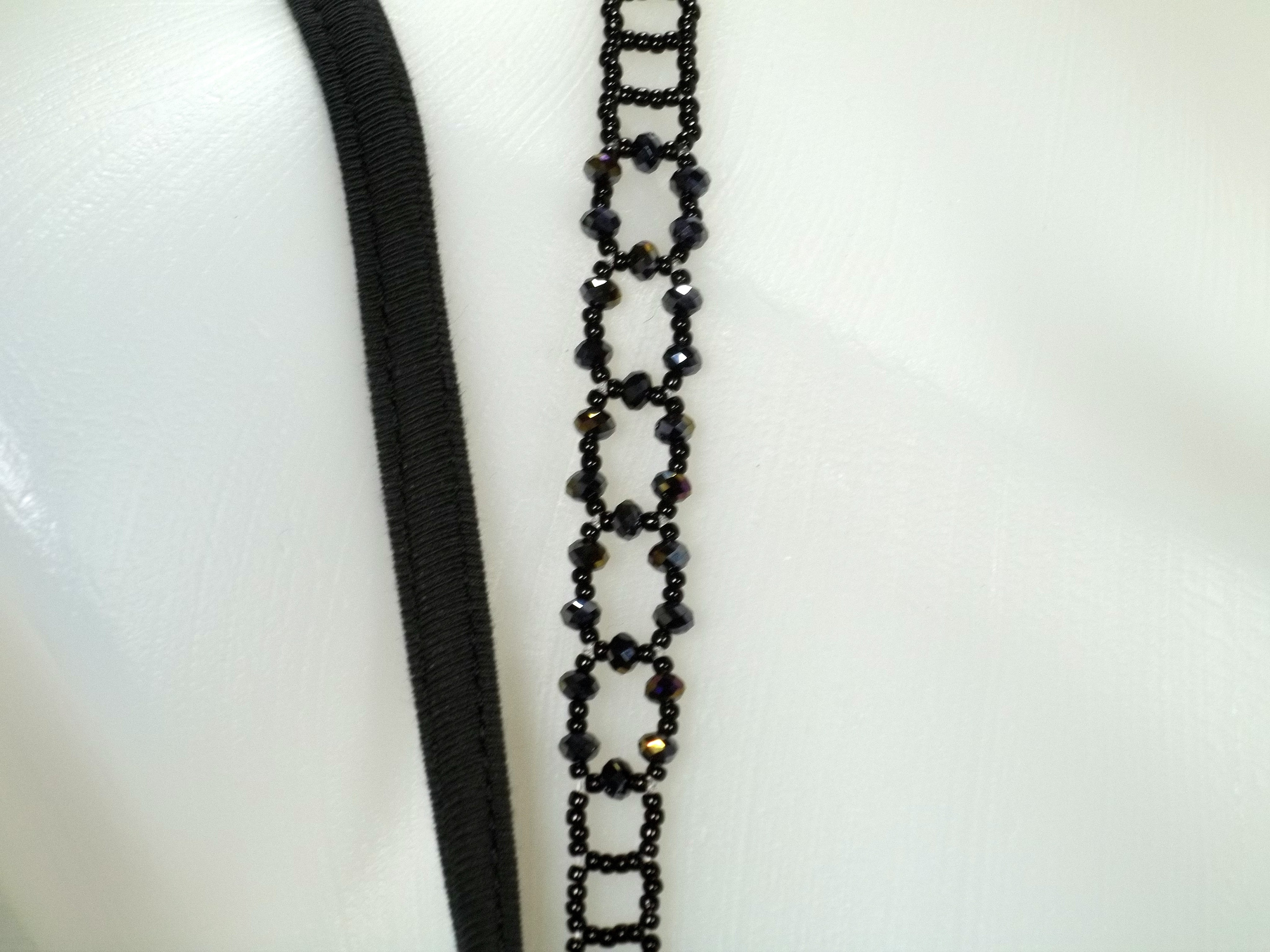 Swarovski Jet Adjustable Beaded Bra Straps DIY Kit